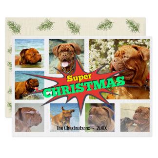 Superweihnachtssprache-Blasen-Foto-Collage 12,7 X 17,8 Cm Einladungskarte