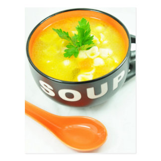 Suppe Postkarte