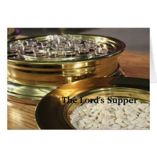 Supper des Lords Grußkarte