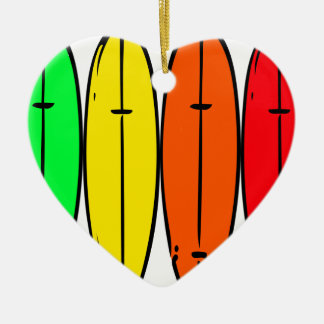 Surfbretter Keramik Herz-Ornament