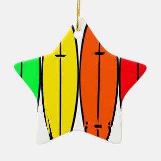 Surfbretter Keramik Stern-Ornament