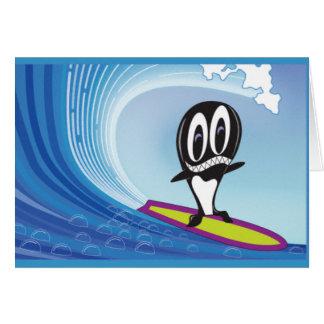 Surfende Schwertwal-Gruß-Karte Grußkarte