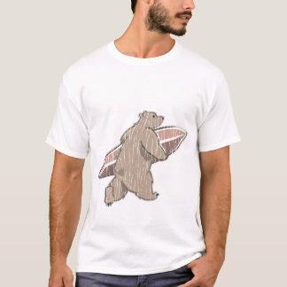 Surfender Braunbär T-Shirt