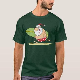 Surfendes Sankt-T-Shirt T-Shirt