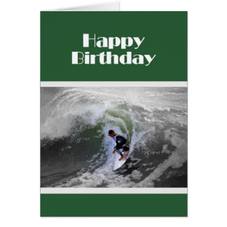 Surfer-Jungen-Geburtstags-Karte Grußkarte