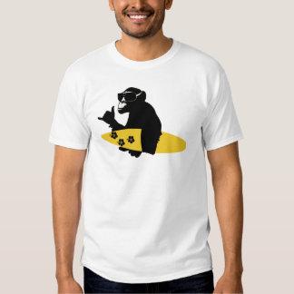 surfer monkey tee-shirts