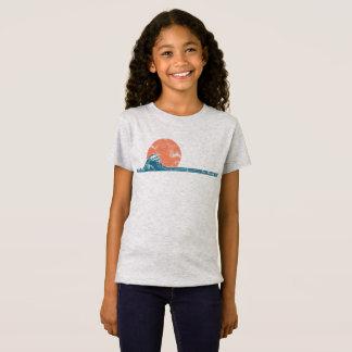 Surfer-Strand-Vintages Art-Mädchen-Shirt T-Shirt