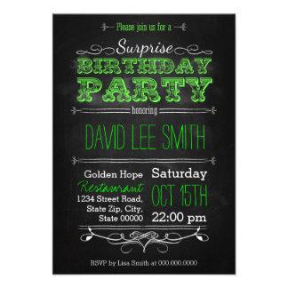 Surprise Birthday Party Personalisierte Ankündigungskarten