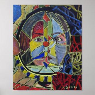 Surreal abstrakte Malerei Poster