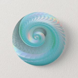 Surreal Aqua-Jade-Regenbogen-Muschel Runder Button 5,7 Cm