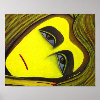 Surreale gelbe Malerei Poster