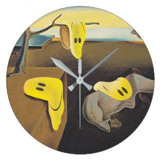 Surreale glückliche Gesichts-Uhr Große Wanduhr