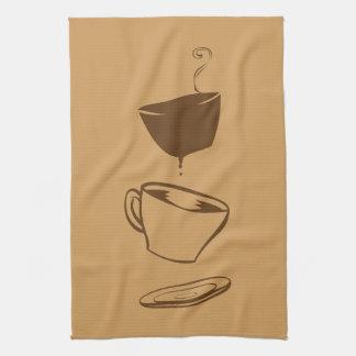 Surrealer Kaffee Handtuch