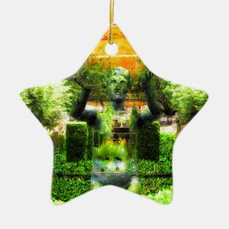Surrealer Renaissance-Garten Keramik Stern-Ornament