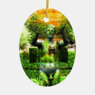 Surrealer Renaissance-Garten Ovales Keramik Ornament