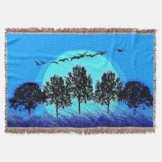 'Surreales Landscape_Blue Blanket_Black Decke