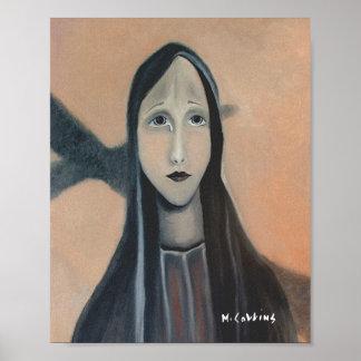 Surreales Ölgemälde der Riss einer Mutter Poster