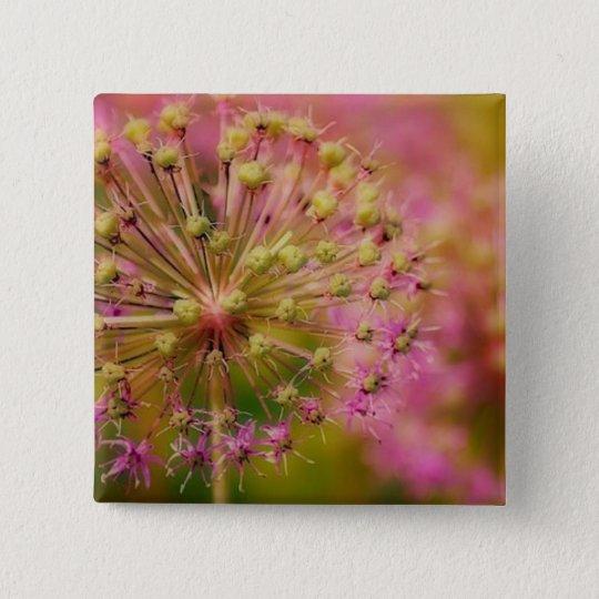 Surreales Rosa Quadratischer Button 5,1 Cm