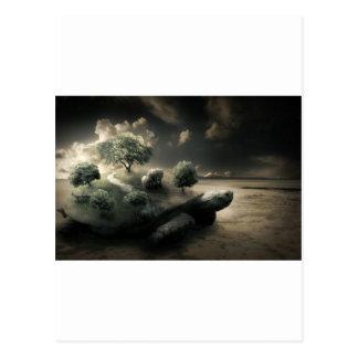 Surreales Schildkrötebild Postkarte
