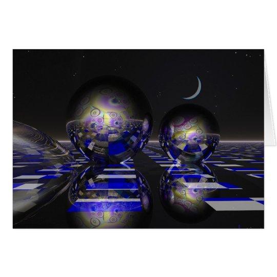 Surrealistische Sciencefictionkarte Karte