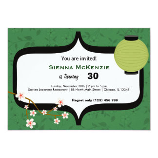 Sushi-Geburtstag 12,7 X 17,8 Cm Einladungskarte
