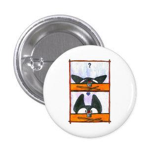 Sushi-Katze! Runder Button 3,2 Cm