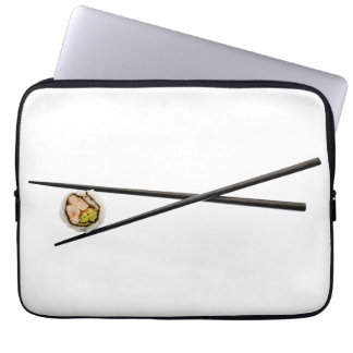 Sushi-Rolle u. Essstäbchen - kundengebundene Laptop Sleeve Schutzhüllen