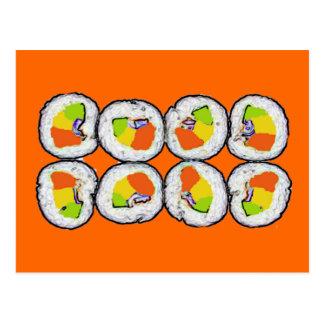 Sushi-Sushi-Postkarte Postkarte