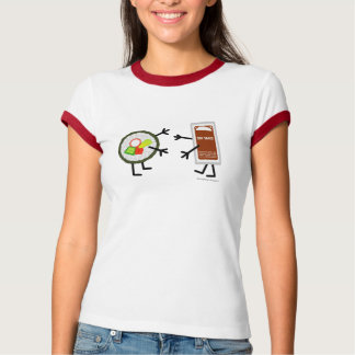 Sushi u. Sojasoße - kundengerecht T-Shirt