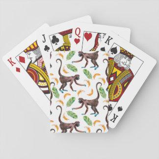 Süße Affen, die Bananen jonglieren Spielkarten