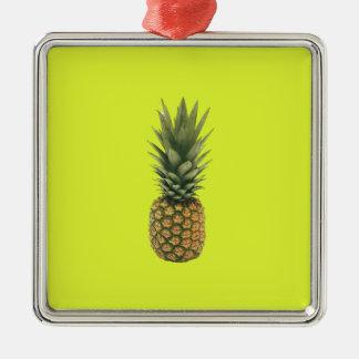 Süße Ananas Silbernes Ornament