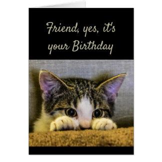 Süße Art kümmerte Freund-Geburtstags-niedliches Karte