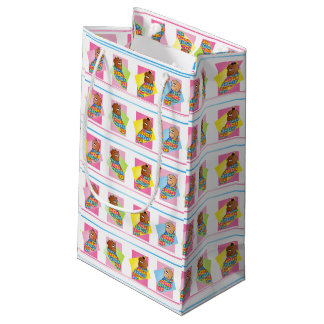 Süße Baby-und Mädchen-Quadrate Kleine Geschenktüte