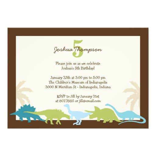 Süße Dinosaurier-Geburtstags-Party Einladung
