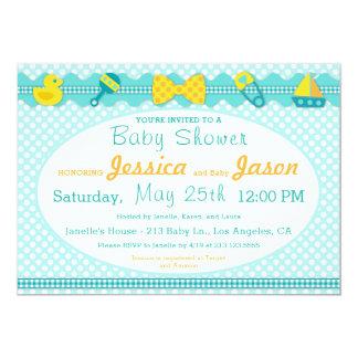 Süße Einklebebuch-Jungen-Babyparty-Einladung Karte