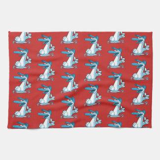 süße Ente auf dem See-Cartoon Handtuch