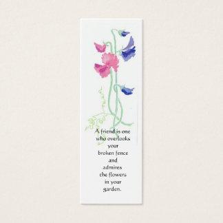 Süße Erbsen-Lesezeichen Mini Visitenkarte