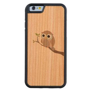 süße Eule bedruckt auf Holz Bumper iPhone 6 Hülle Kirsche