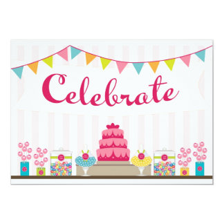 Süße Feier-Einladung Karte