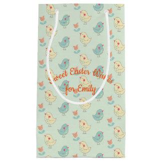 Süße Frühlings-Piepmatz-Geschenk-Tasche - klein, Kleine Geschenktüte
