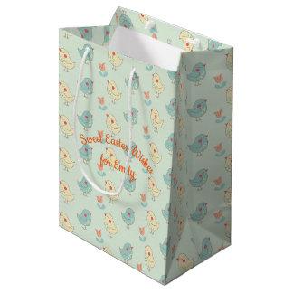 Süße Frühlings-Piepmatz-Geschenk-Tasche Mittlere Geschenktüte