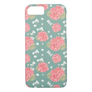 Süße Gartennelken-Blumen-nahtloses Muster iPhone 8/7 Hülle