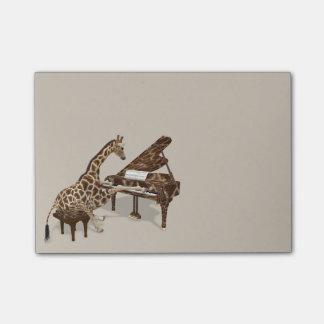 Süße Giraffen-Lieben, Klavier zu spielen Post-it Klebezettel