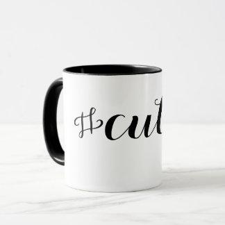 Süsse Hashtag Typografie Tasse