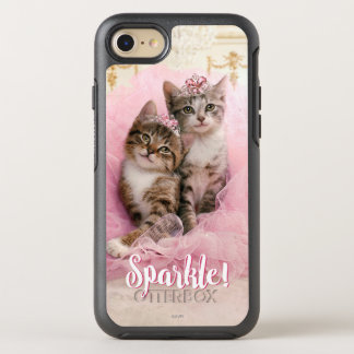 Süße Kätzchen in den Tiaras und im rosa funkelnd OtterBox Symmetry iPhone 8/7 Hülle