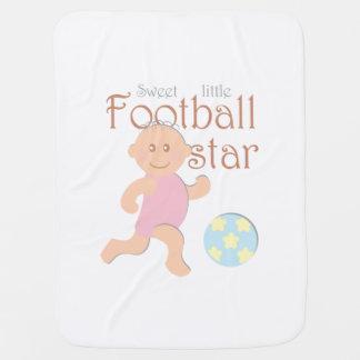 Süße kleine Fußballstarbabydecke Kinderwagendecke