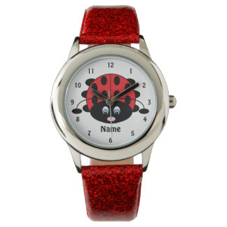 Süße kleine Marienkäfer-Uhr Armbanduhr