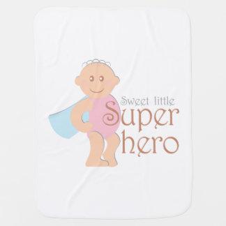 Süße kleine Superheldbabydecke Kinderwagendecke