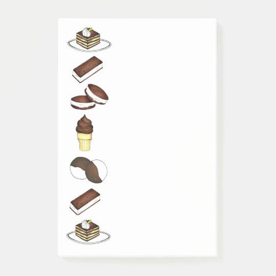 Süße Leckerei-Eiscreme-Plätzchentiramisu-Post-It Post-it Klebezettel