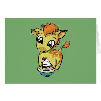 Süße Leckerei! Giraffe Karte